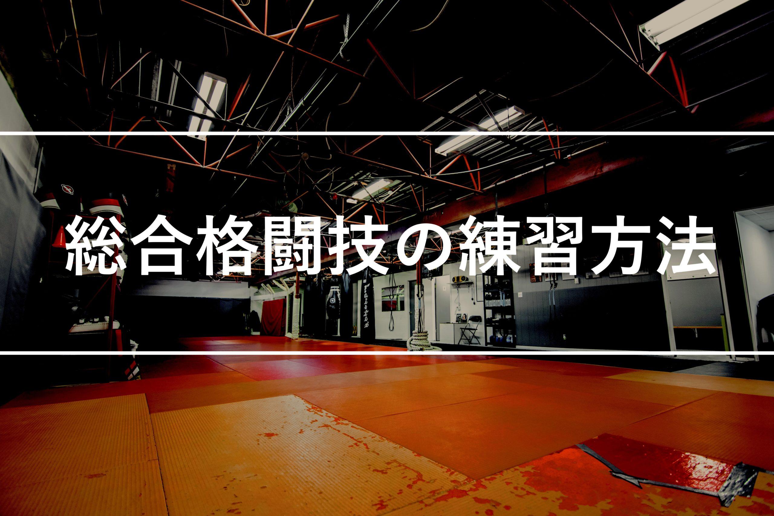 総合格闘技の練習方法を紹介します。初心者が効率良く強くなるには?
