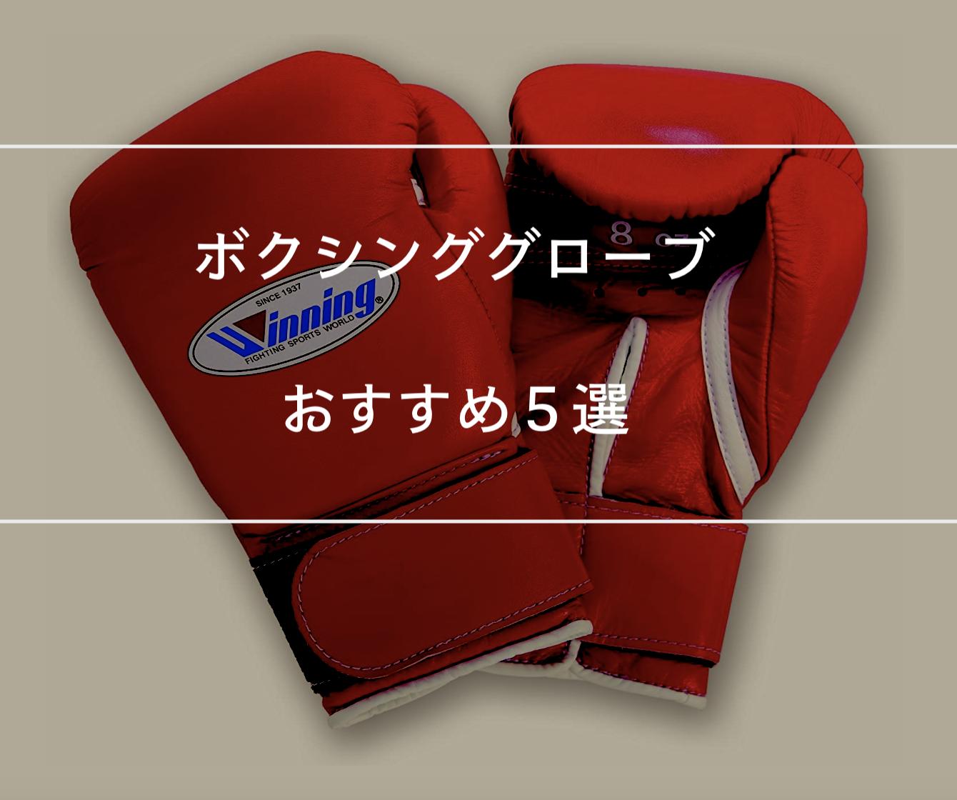 【練習用】ボクシンググローブのおすすめ5選を紹介します。