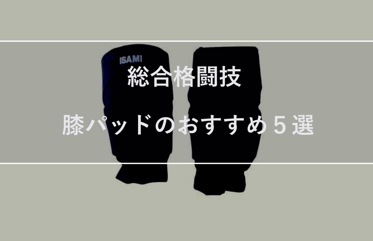 【総合格闘技】膝パッド(ニーパッド)のおすすめ5選を紹介します。